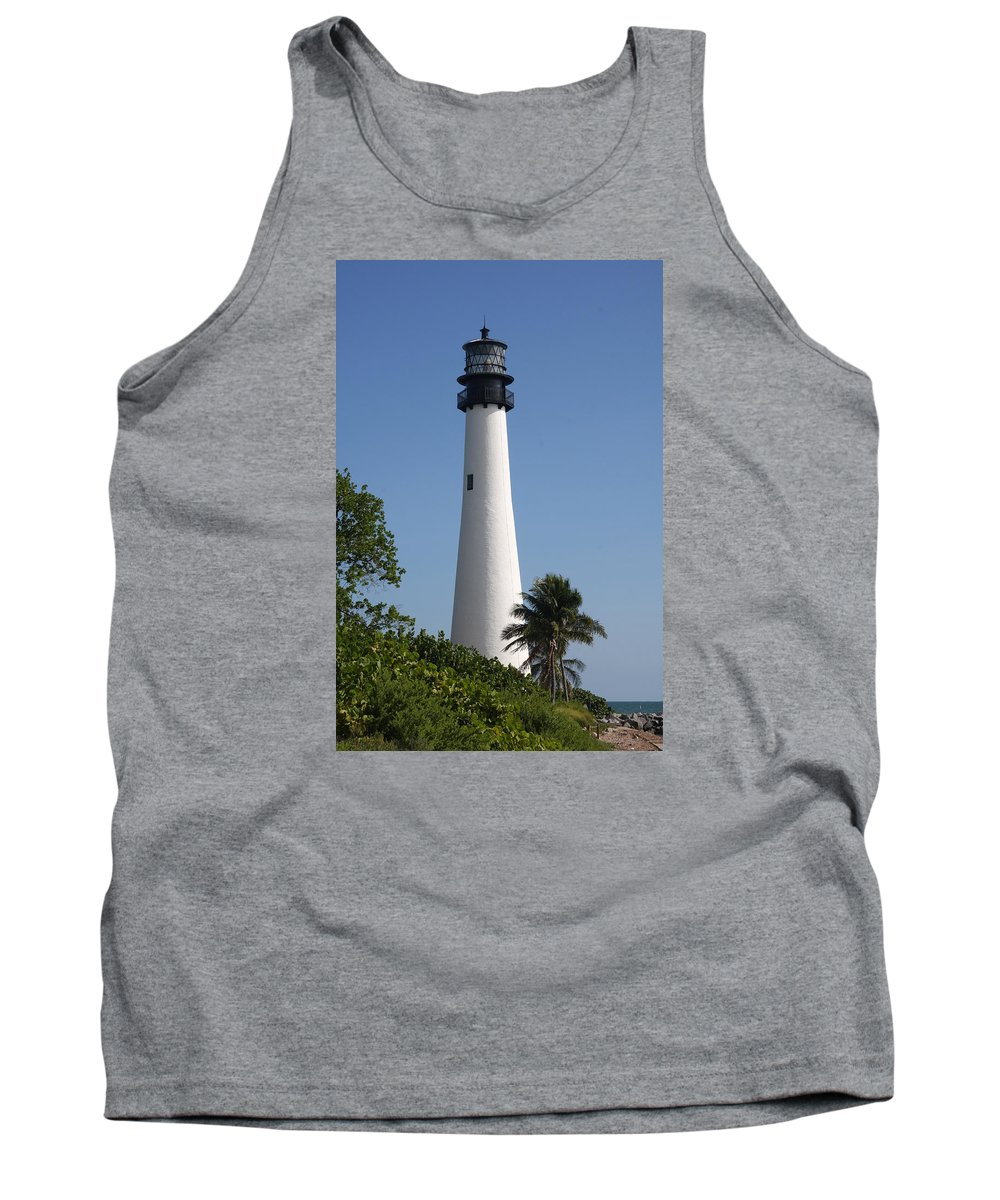 Ligthouse Tank Top featuring the photograph Ligthouse - Key Biscayne by Christiane Schulze Art And Photography