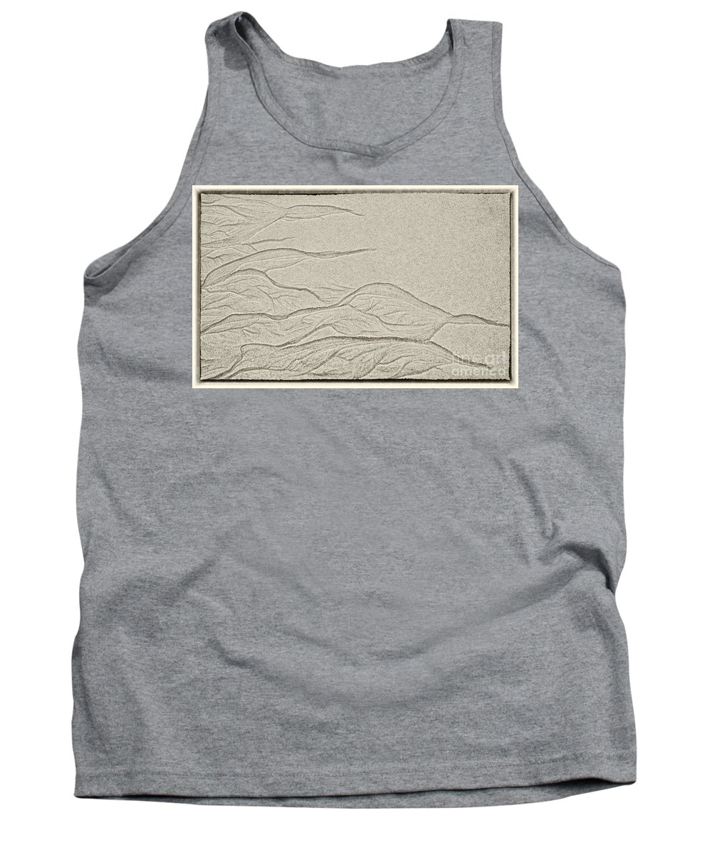 Sand Art Tank Top featuring the photograph Ocean Sand Art by Iris Richardson