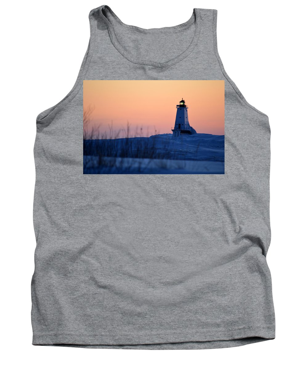 Ludington Tank Top featuring the photograph Orange Glow by Linda Kerkau