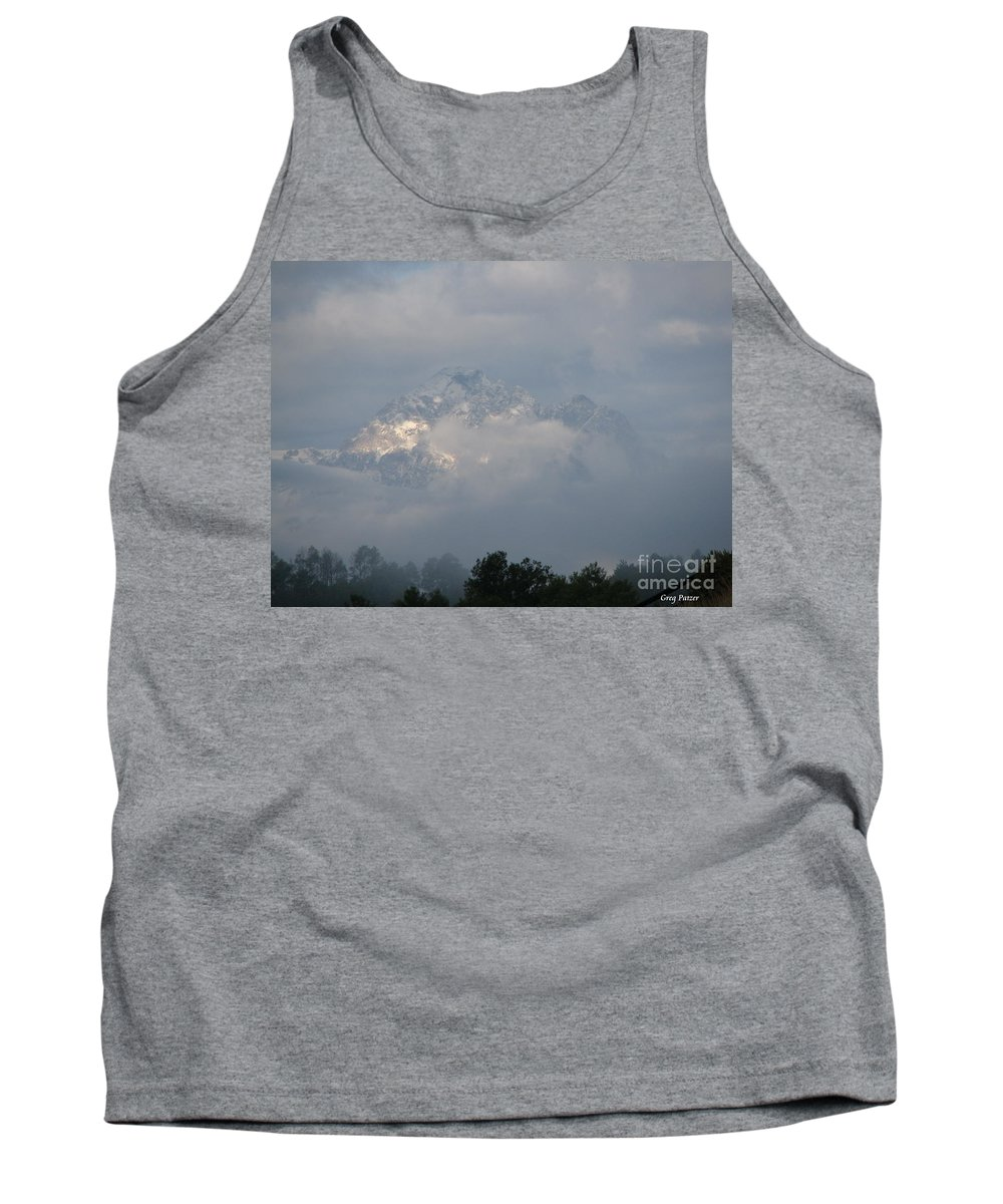 Rocky Mountains Tank Top featuring the photograph Out Of The Clouds by Greg Patzer