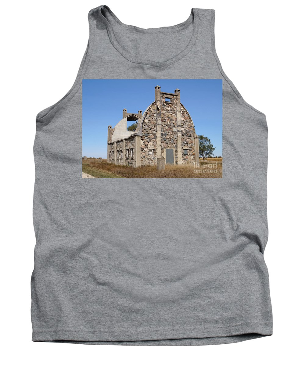 Nature Tank Top featuring the photograph Schott Stone Barn by Lori Tordsen