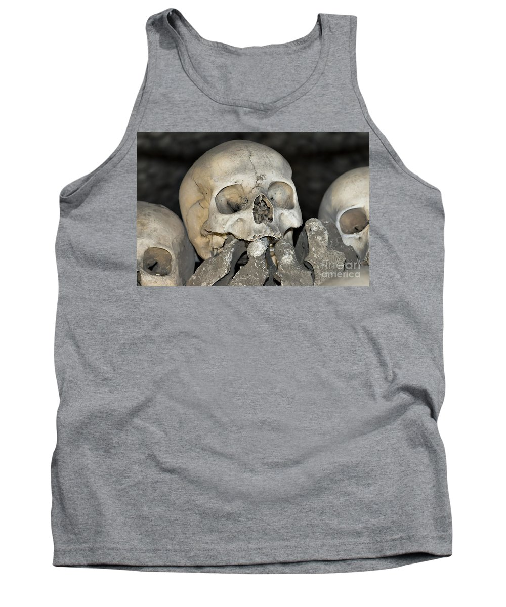 Ossuary Tank Top featuring the photograph Sedlec Ossuary - Charnel House by Michal Boubin