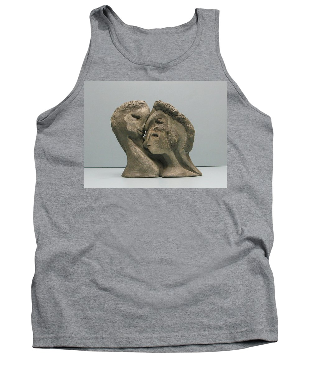 Originals Tank Top featuring the sculpture 2 Sided Family And Empty Nest by Nili Tochner