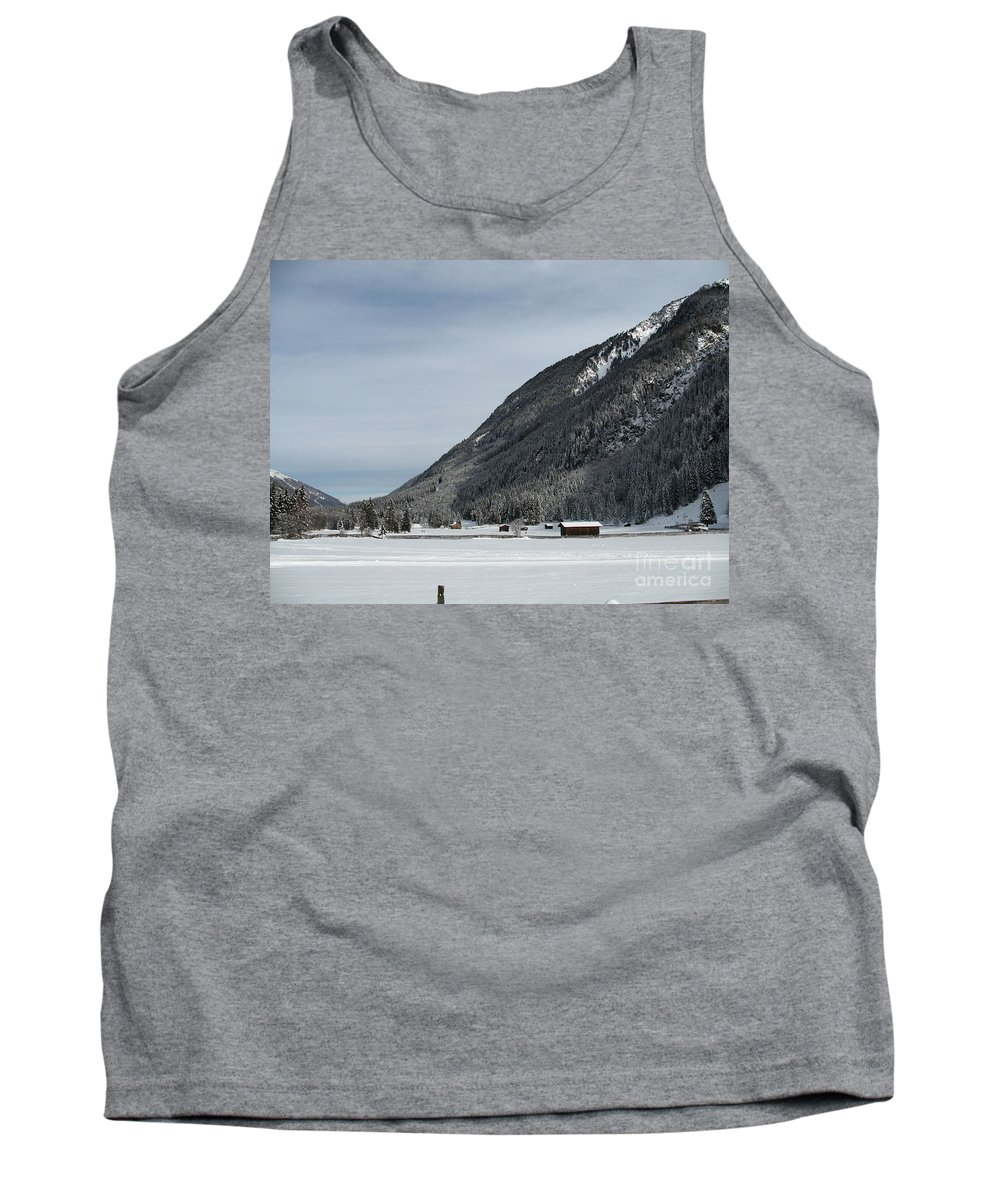 Snow Tank Top featuring the photograph Snowy Meadow by Christiane Schulze Art And Photography