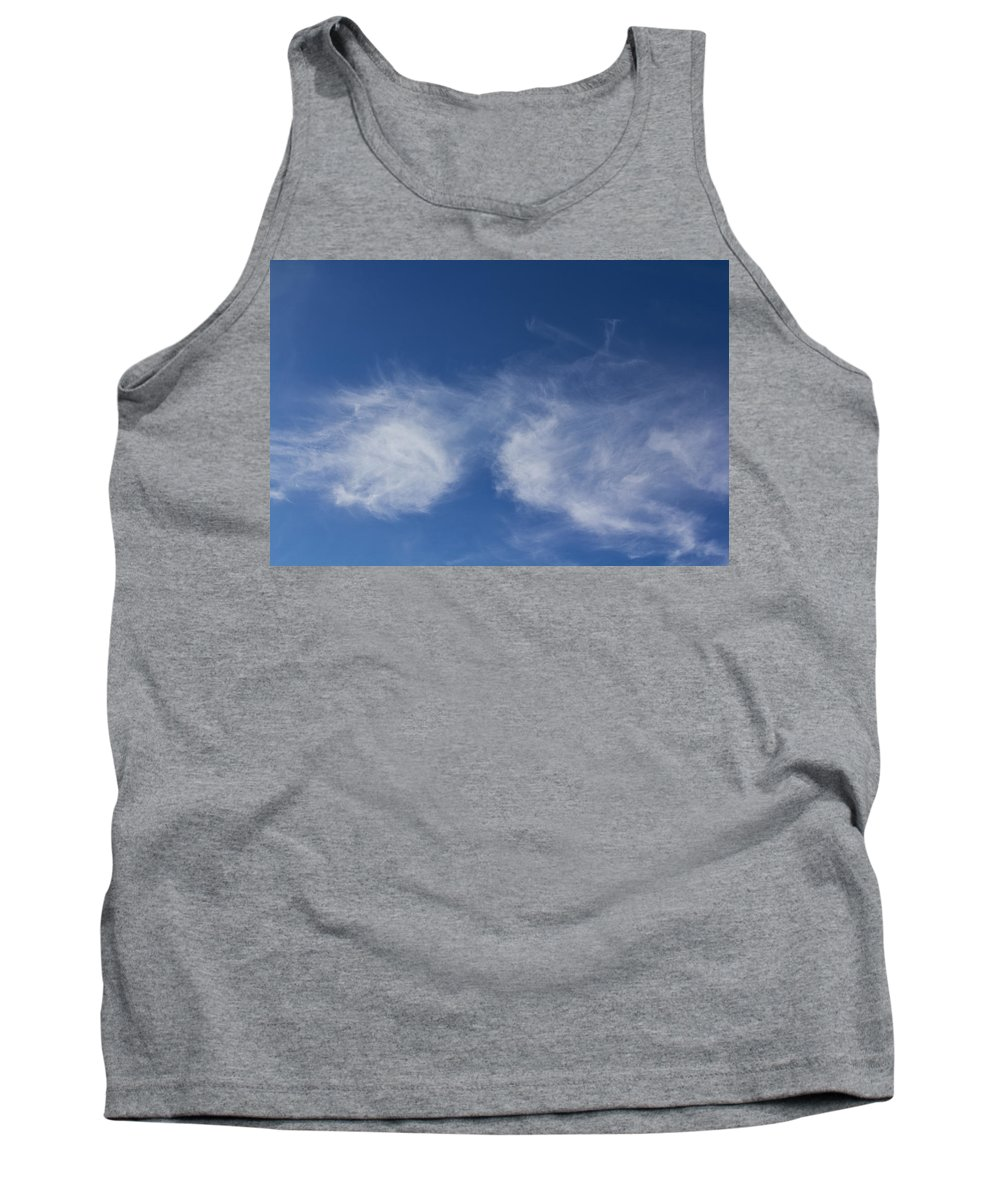 Sky Tank Top featuring the photograph Summer Clouds by David Pyatt