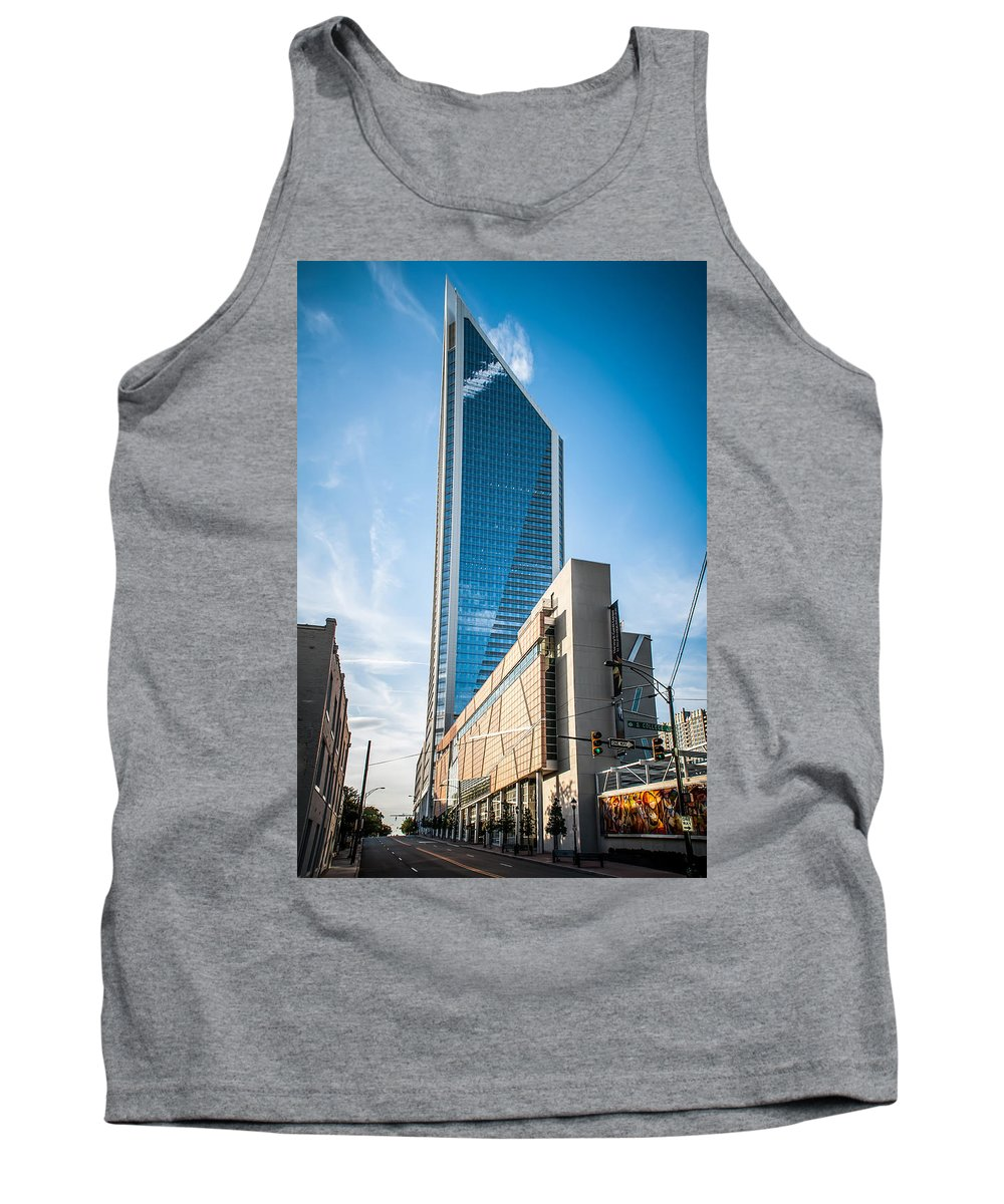 District Tank Top featuring the photograph Skyline Of Uptown Charlotte North Carolina by Alex Grichenko