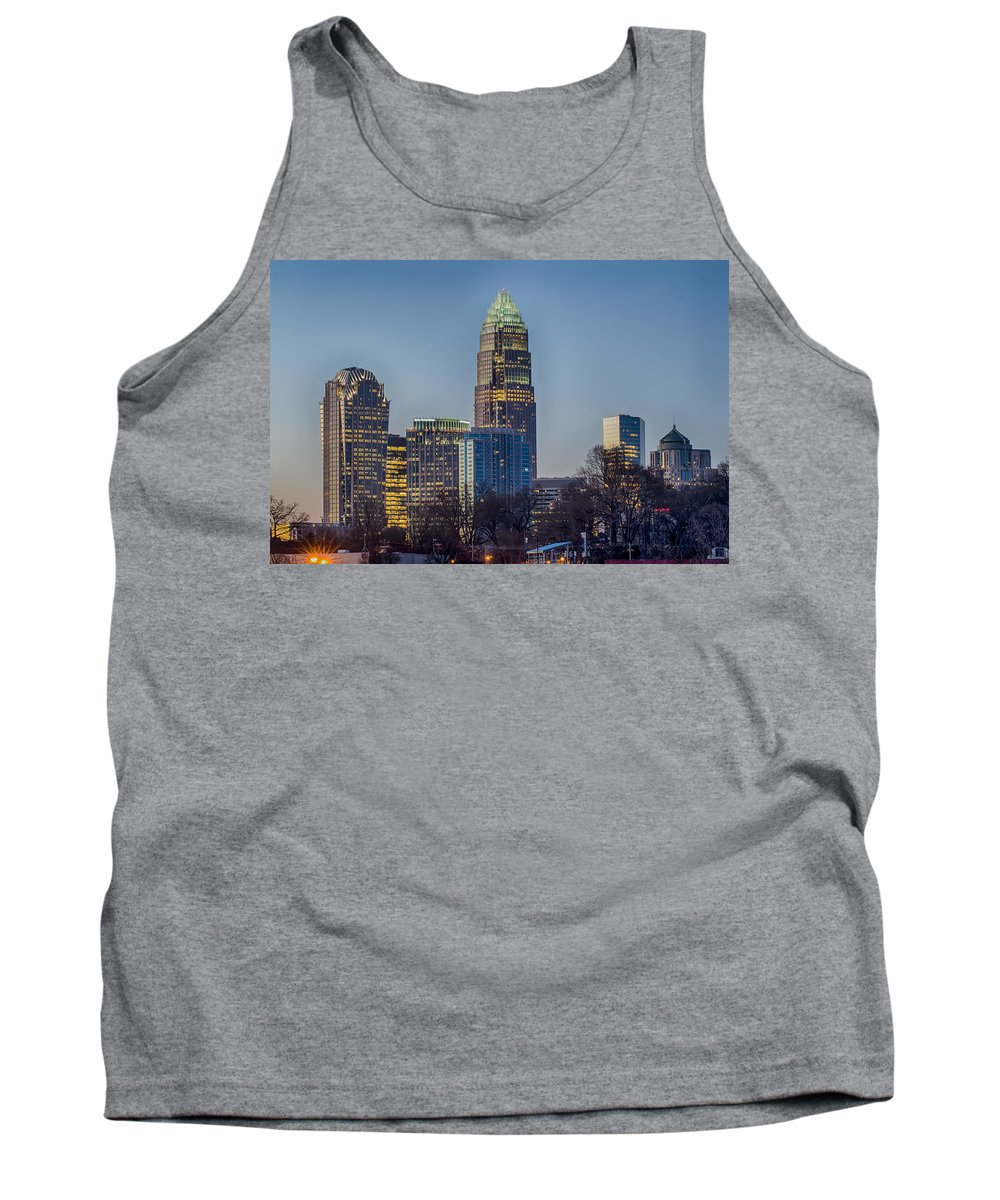Early Tank Top featuring the photograph Early Morning In Charlotte Nc by Alex Grichenko