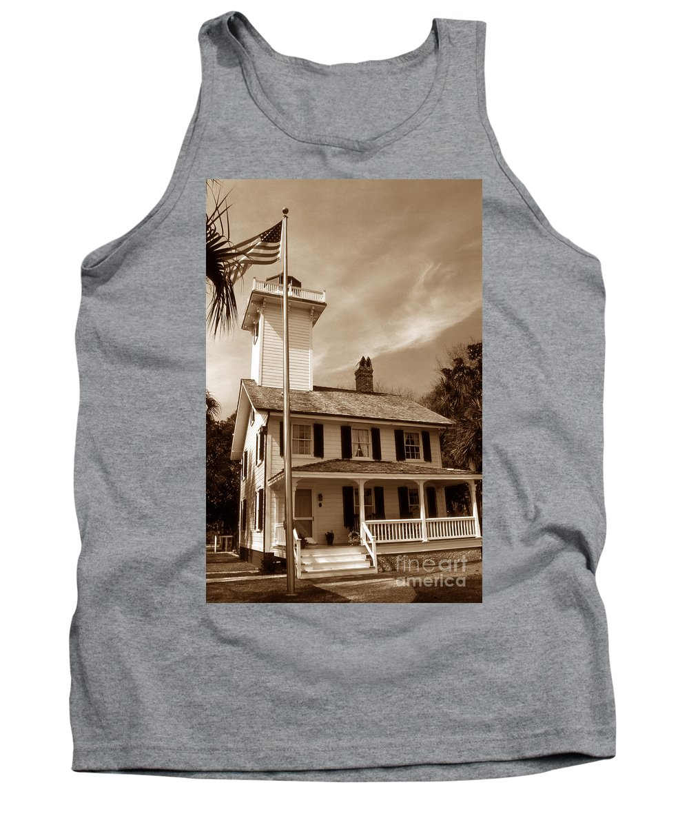Lighthouses Tank Top featuring the photograph Haig Point Lighthouse by Skip Willits