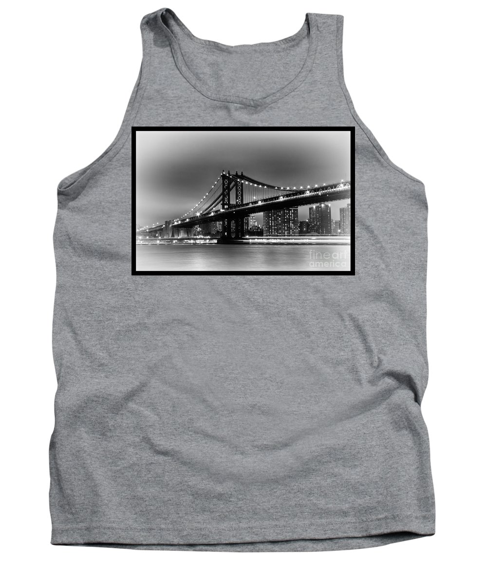 New York City Tank Top featuring the photograph Manhattan Bridge New York City by Terri Morris