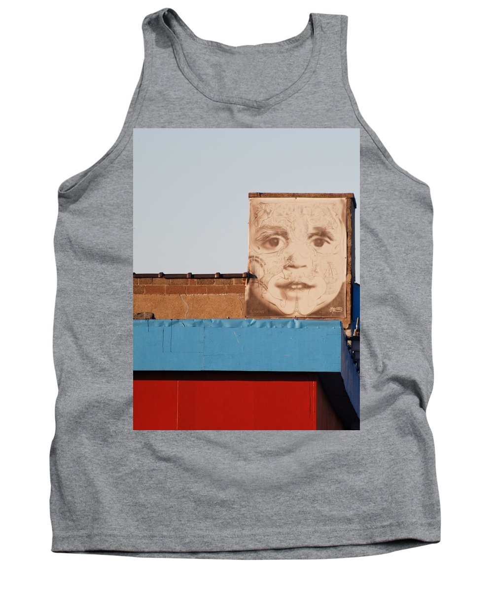 Brooklyn Tank Top featuring the photograph The Face by Rob Hans