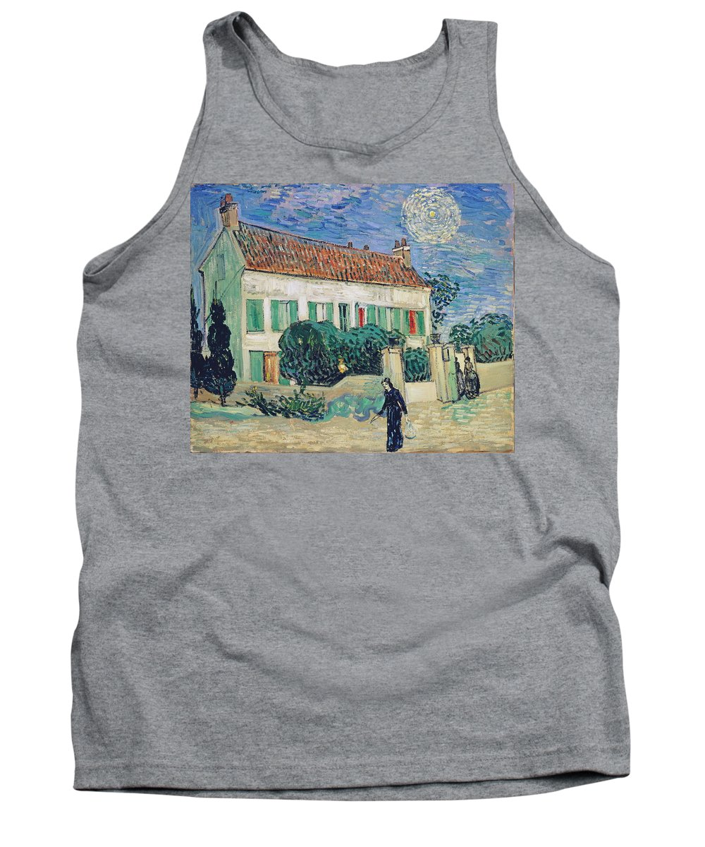 Vincent Van Gogh Tank Top featuring the painting White House At Night by Vincent van Gogh
