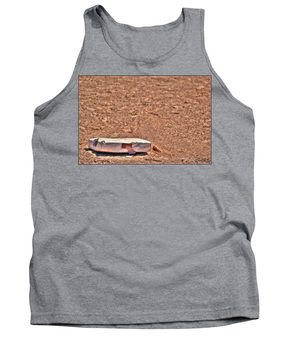 Baseball Tank Top featuring the photograph 3rd Base by Michael Frank Jr