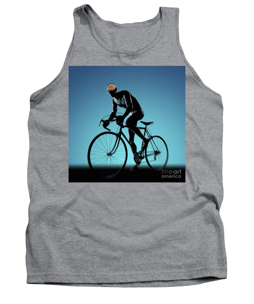 Thought Tank Top featuring the photograph Cycling by Science Picture Co