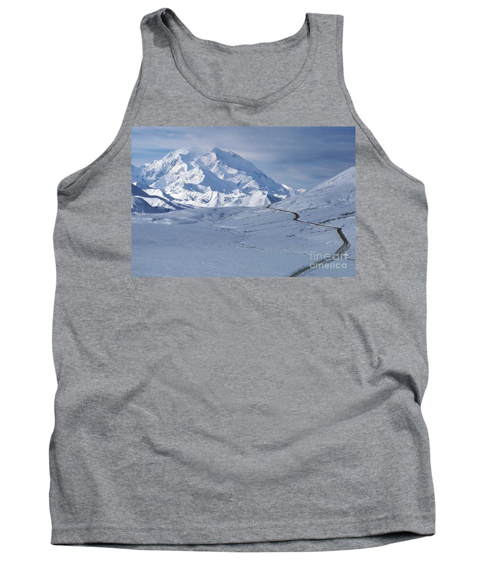Mountain Tank Top featuring the photograph Mount Mckinley by Ron Sanford