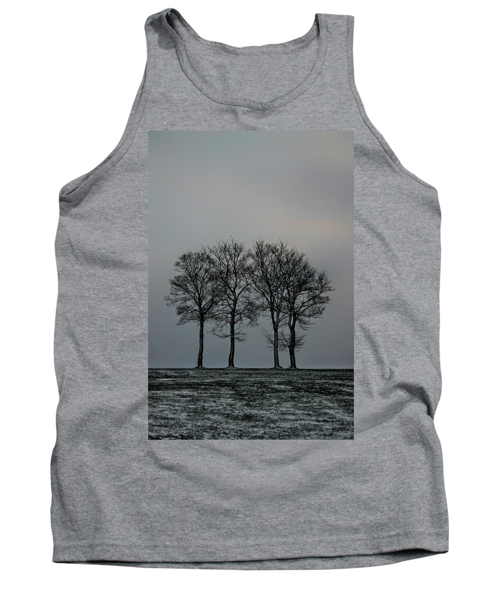 Tree Tank Top featuring the photograph 4 Trees In A Winters Landscape by Russ Dixon