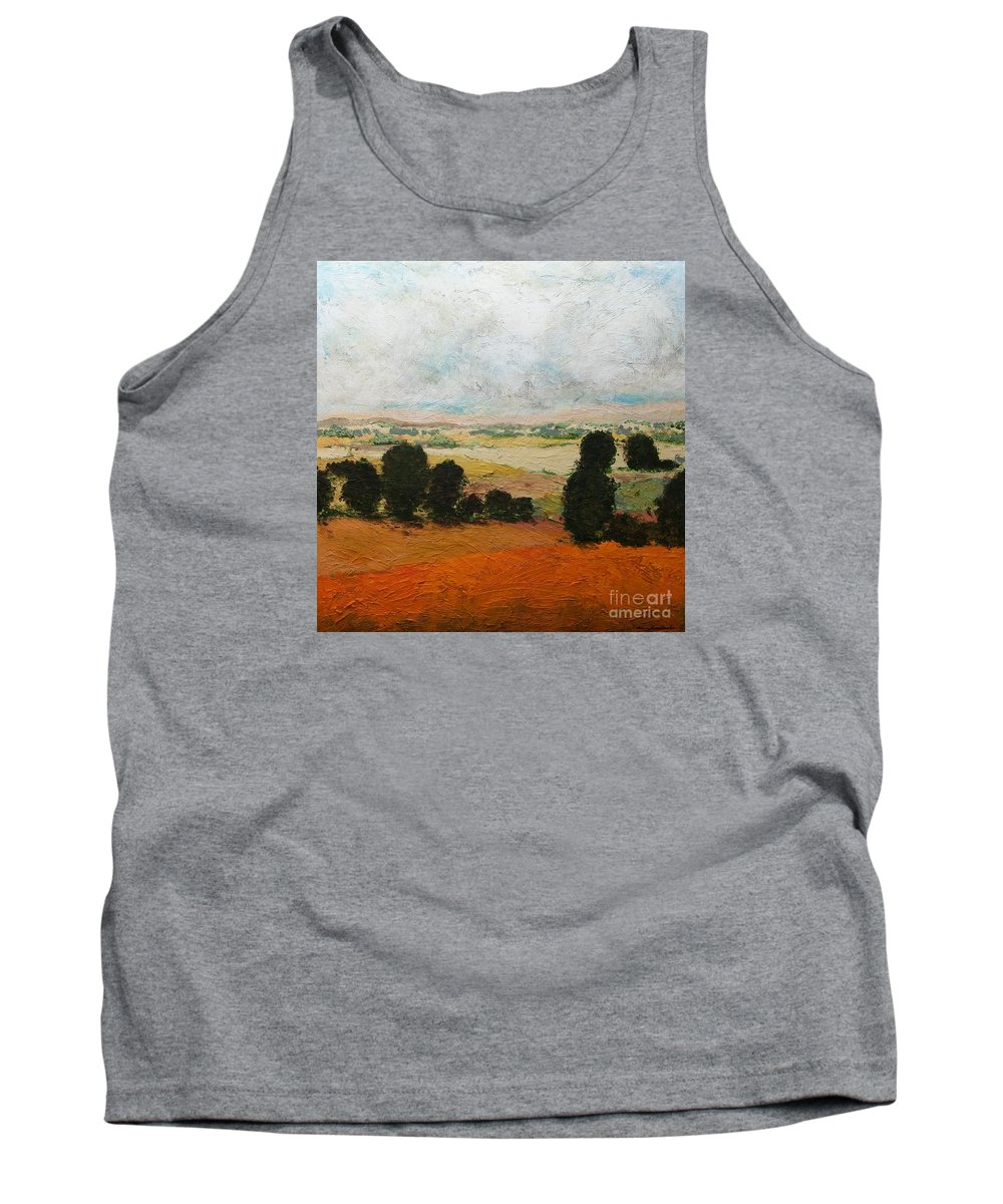 Landscape Tank Top featuring the painting 45 Acres by Allan P Friedlander