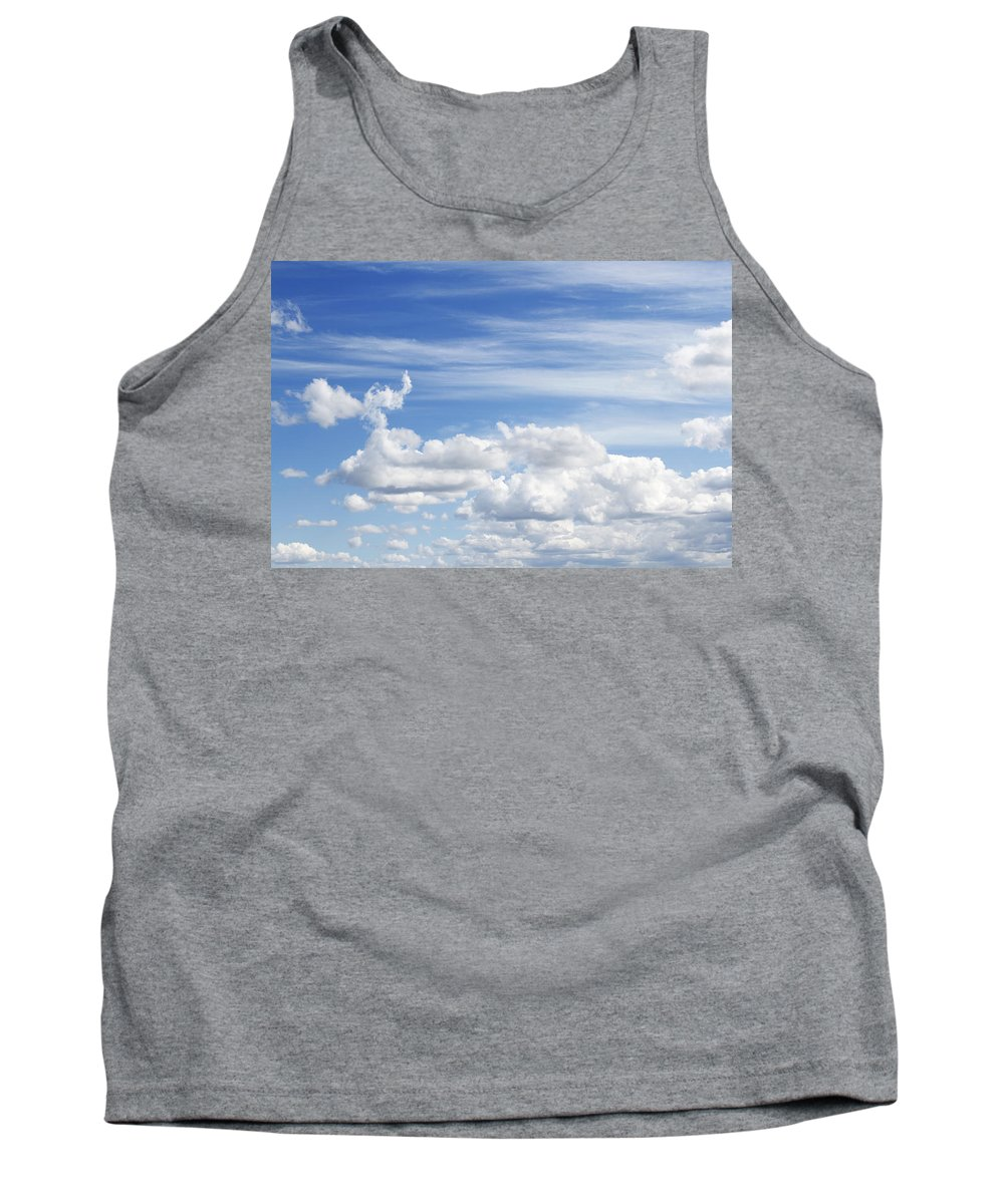 Cloud Tank Top featuring the photograph Clouds by Les Cunliffe
