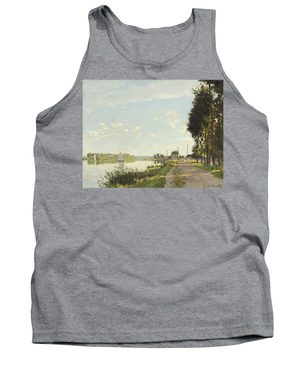 Claude Monet Tank Top featuring the painting Argenteuil by Claude Monet