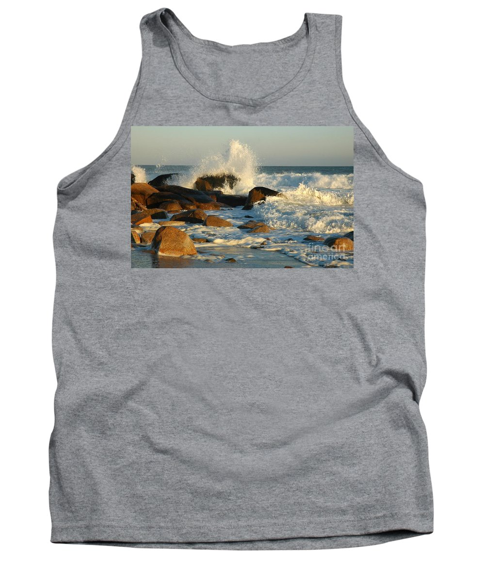 Waves Tank Top featuring the photograph End Of The Day by Christiane Hellner-OBrien