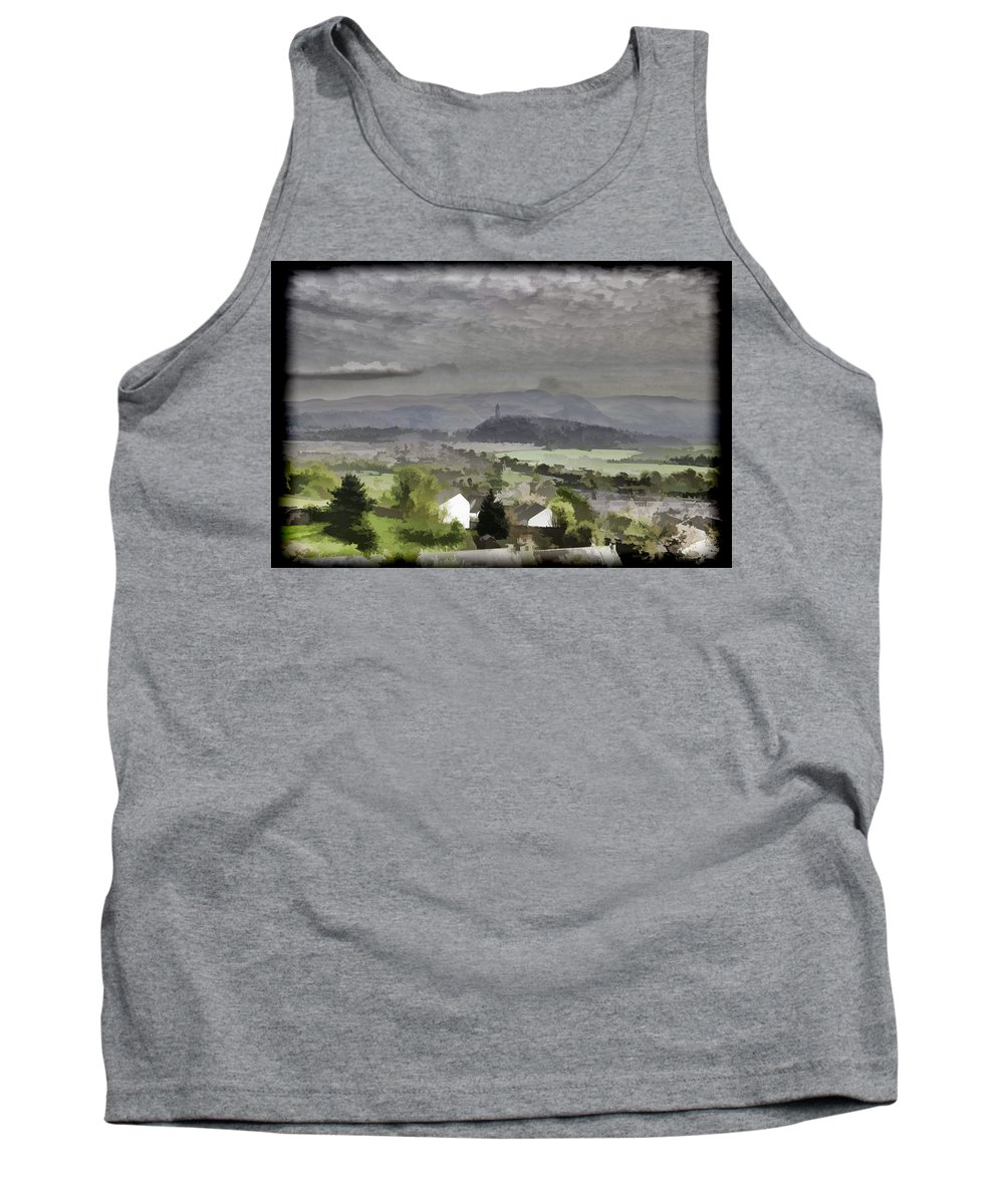 Building Tank Top featuring the photograph View Of Wallace Monument And Surrounding Areas by Ashish Agarwal