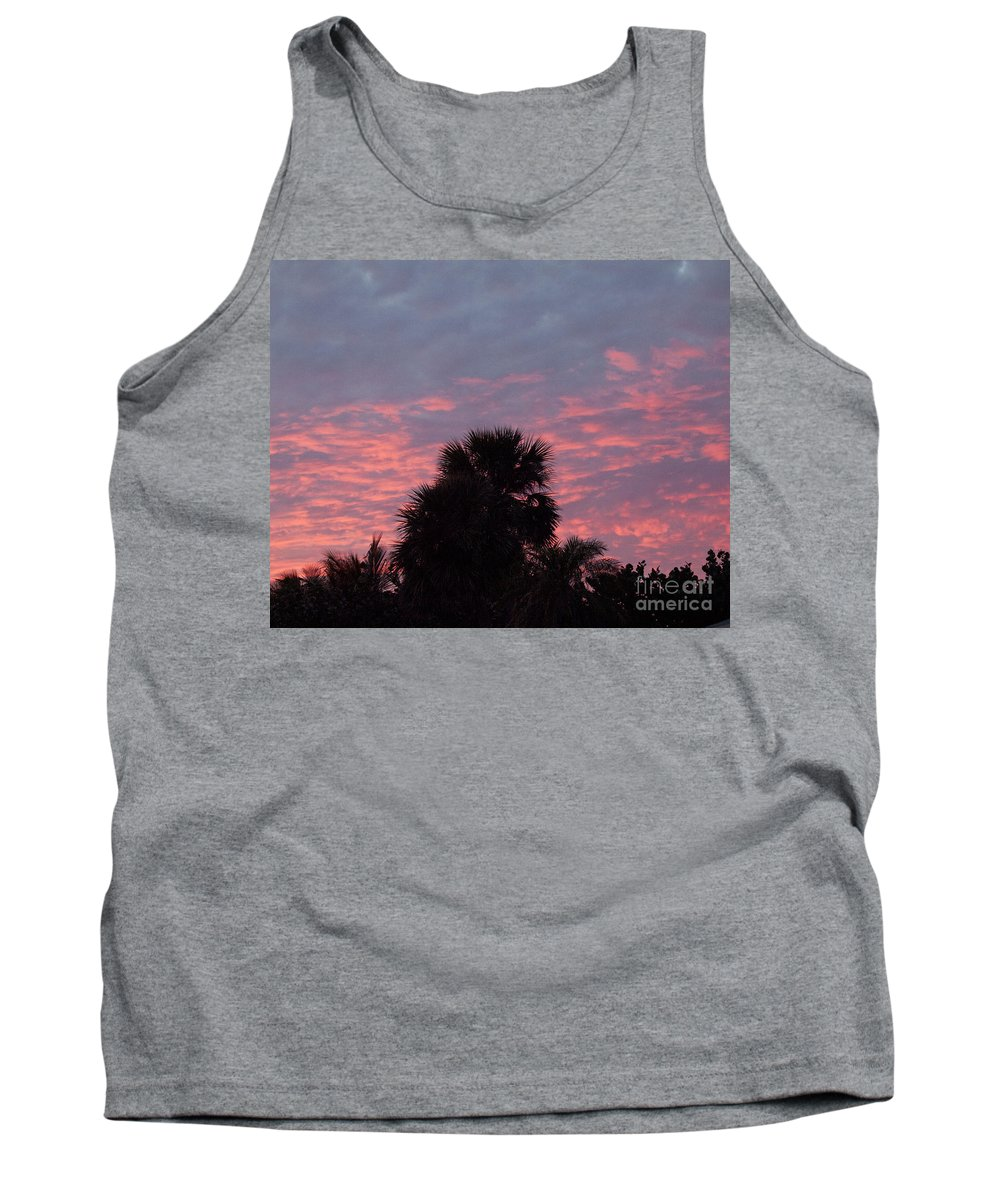 Tropic Tank Top featuring the photograph Florida Sunset by Allan Hughes