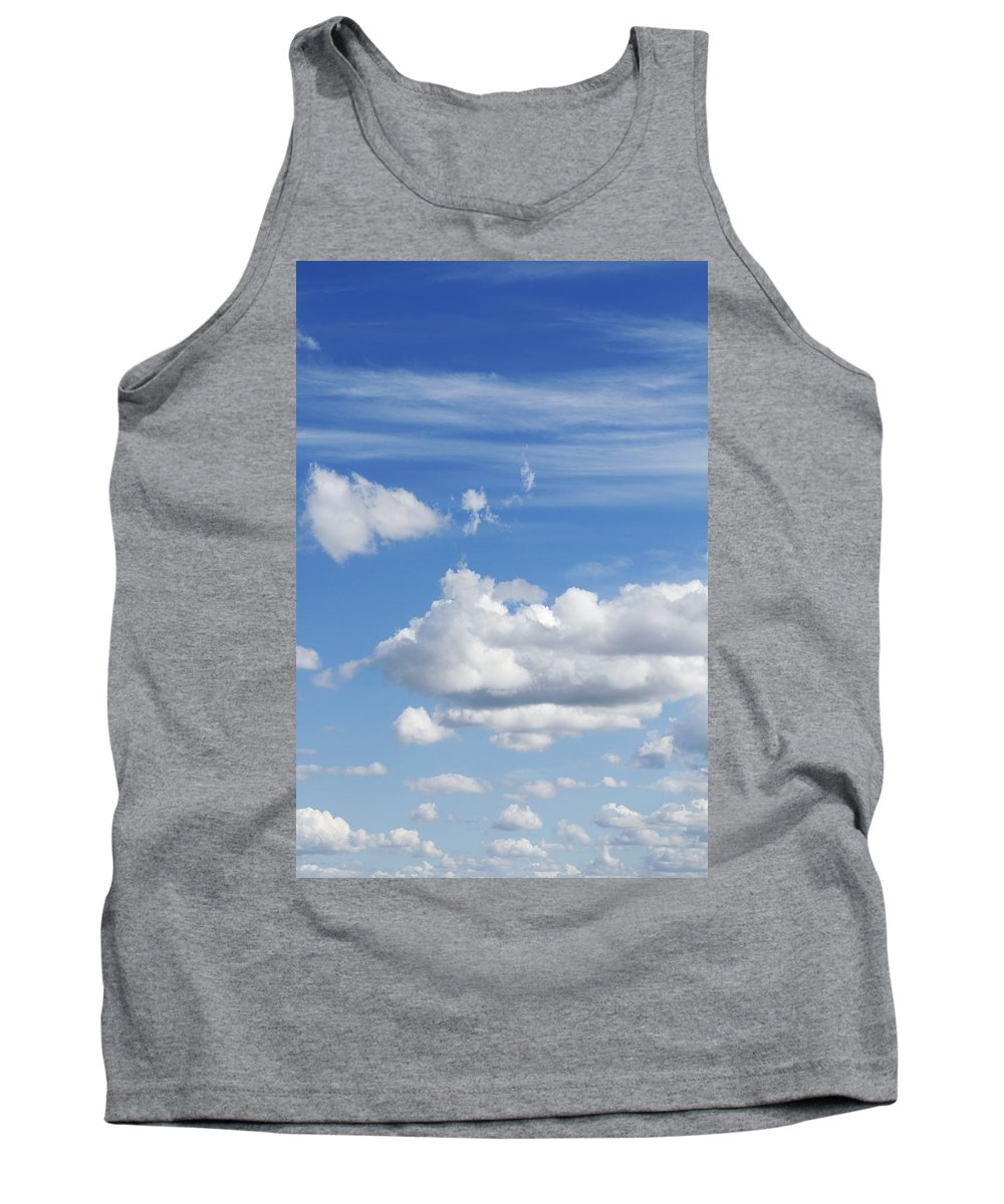 Cloud Tank Top featuring the photograph Fluffy Clouds by Les Cunliffe