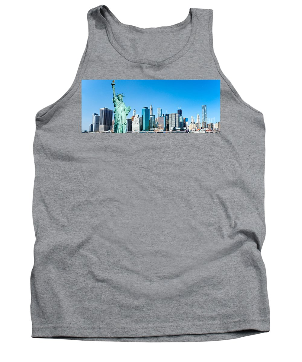 America Tank Top featuring the photograph Manhattan - New York City by Luciano Mortula