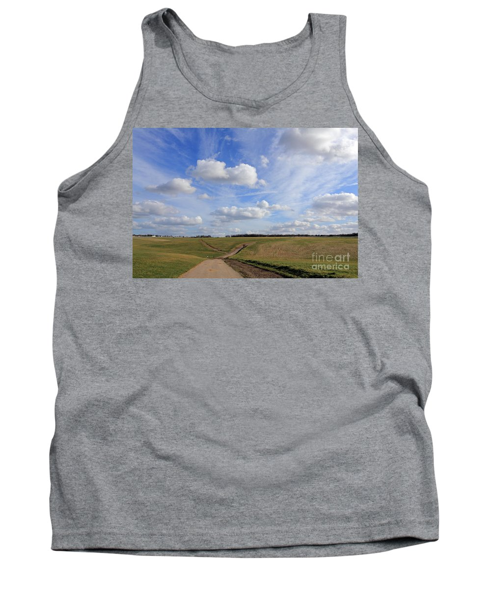 Spring Sunshine On Epsom Downs Surrey Tank Top featuring the photograph Spring Sunshine On Epsom Downs Surrey by Julia Gavin