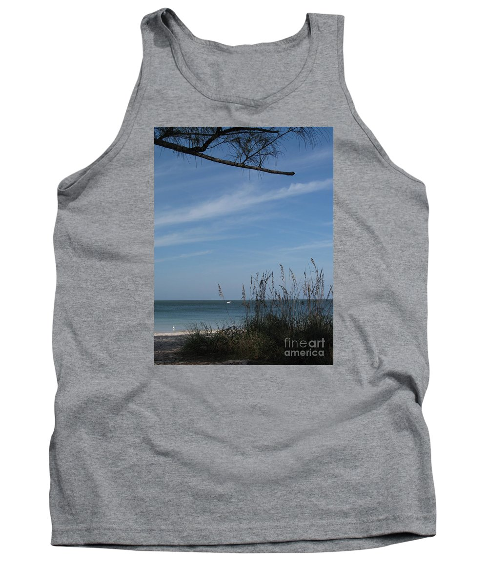 Beach Tank Top featuring the photograph A Beautiful Day At A Florida Beach by Christiane Schulze Art And Photography