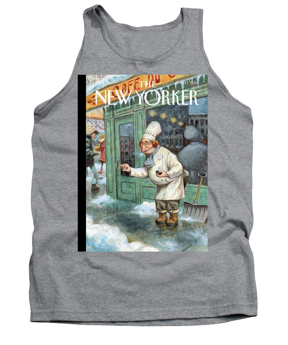 Cooking Tank Top featuring the painting Just A Pinch by Peter de Seve