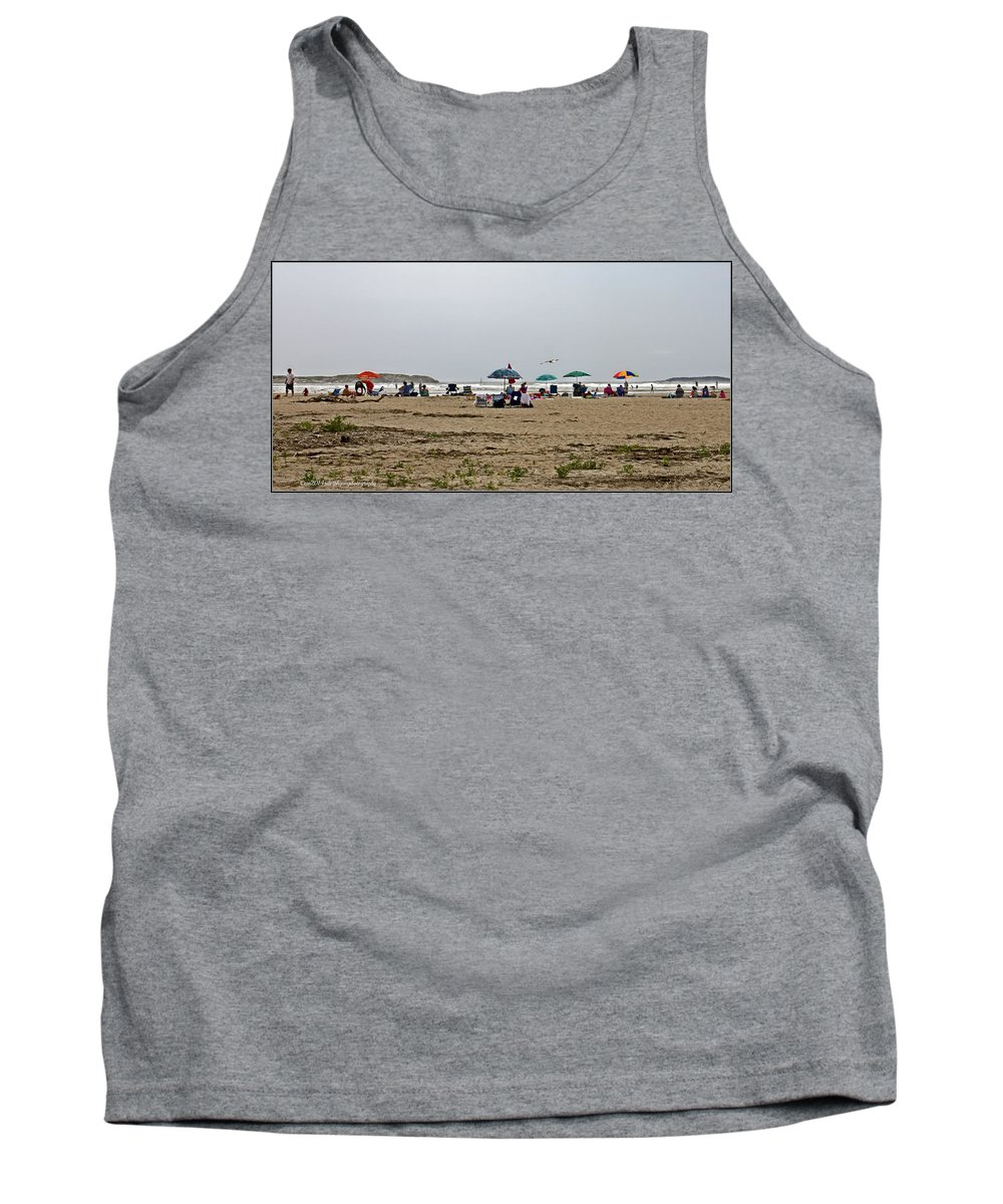 Maine Beach Tank Top featuring the photograph A Day At Popham Beach by Catherine Melvin