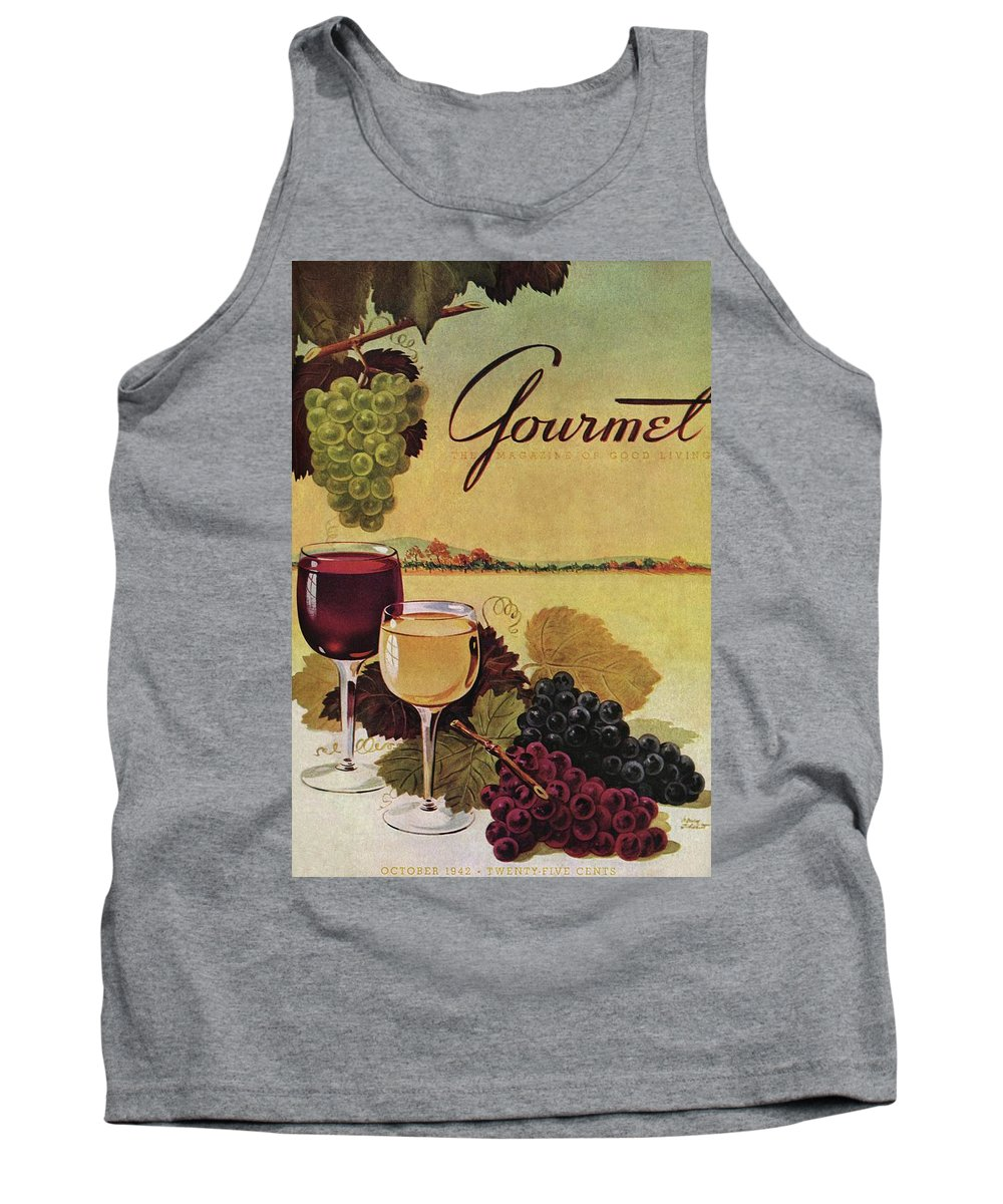 Exterior Tank Top featuring the photograph A Gourmet Cover Of Wine by Henry Stahlhut