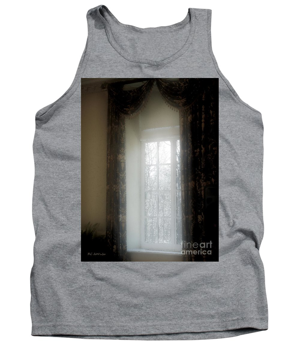 Curtains Tank Top featuring the painting A Hazy Shade Of Winter by RC DeWinter