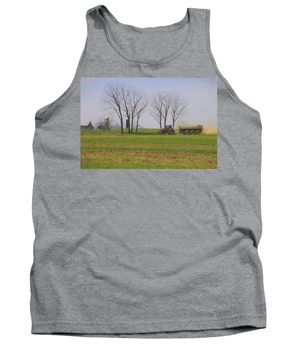 Farming Tank Top featuring the photograph A Little Farming by Alice Gipson