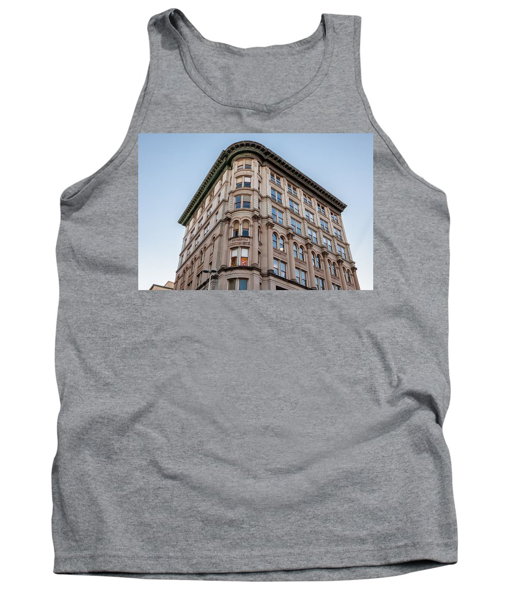 Architecture Tank Top featuring the photograph A Round The Corner by Melinda Ledsome