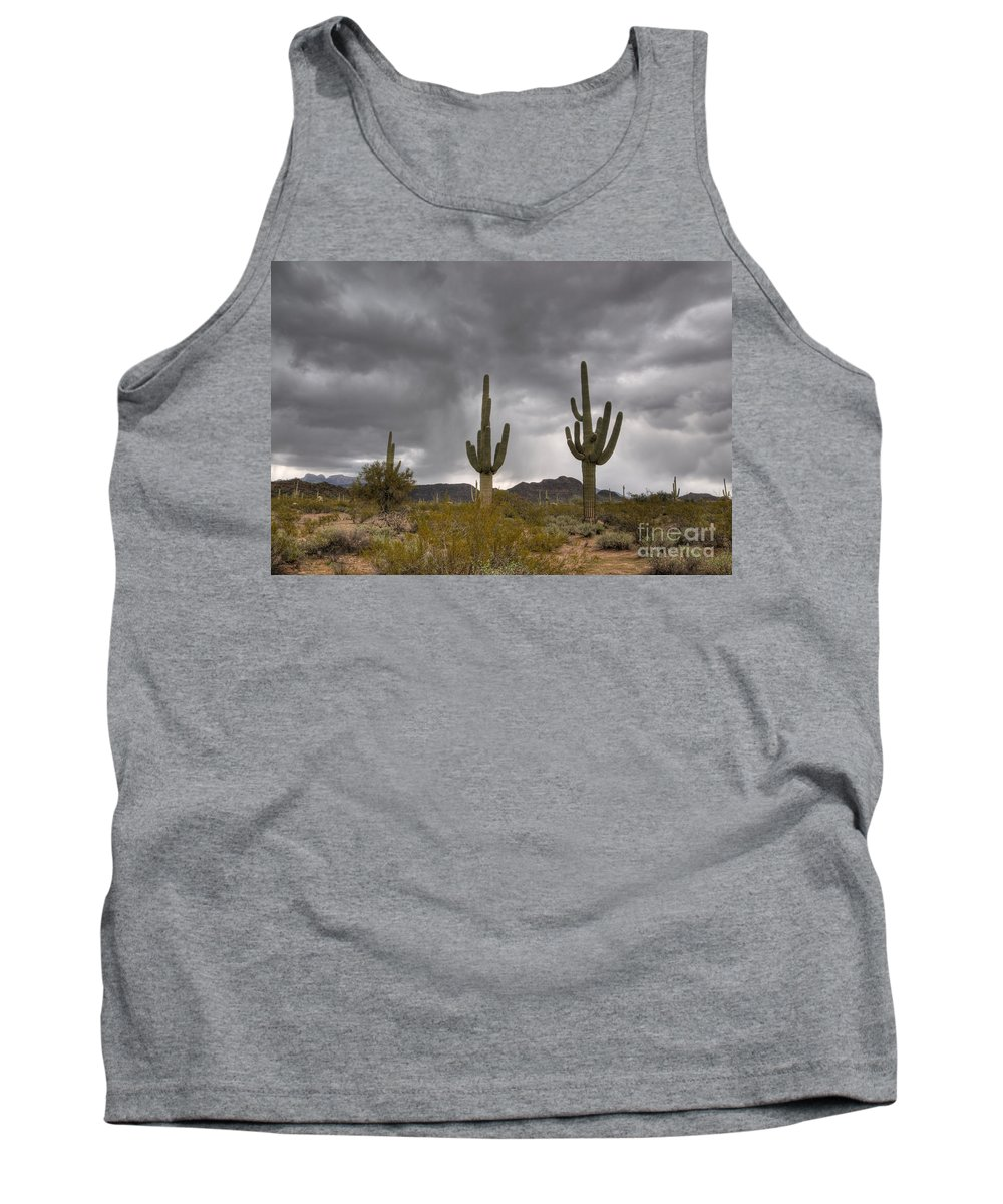 Saguaro Tank Top featuring the photograph A Storm In The Sonoran Desert by Vivian Christopher