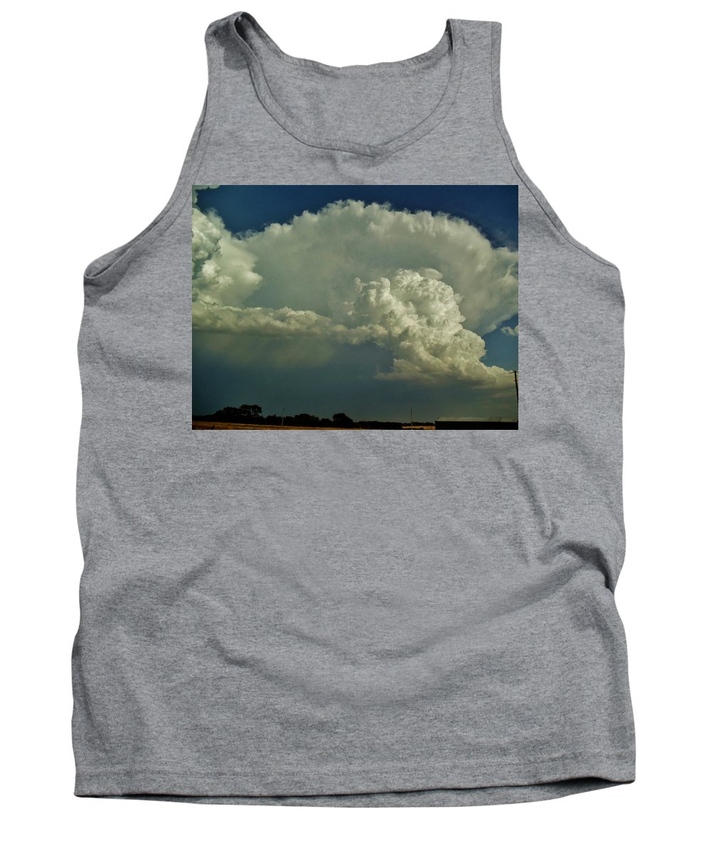 Oklahoma Tank Top featuring the photograph A Supercell Is Born by Ed Sweeney
