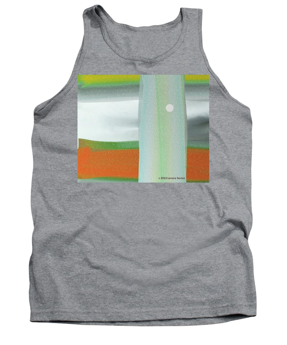 Abstract Tank Top featuring the digital art A Winter's Walk by Lenore Senior