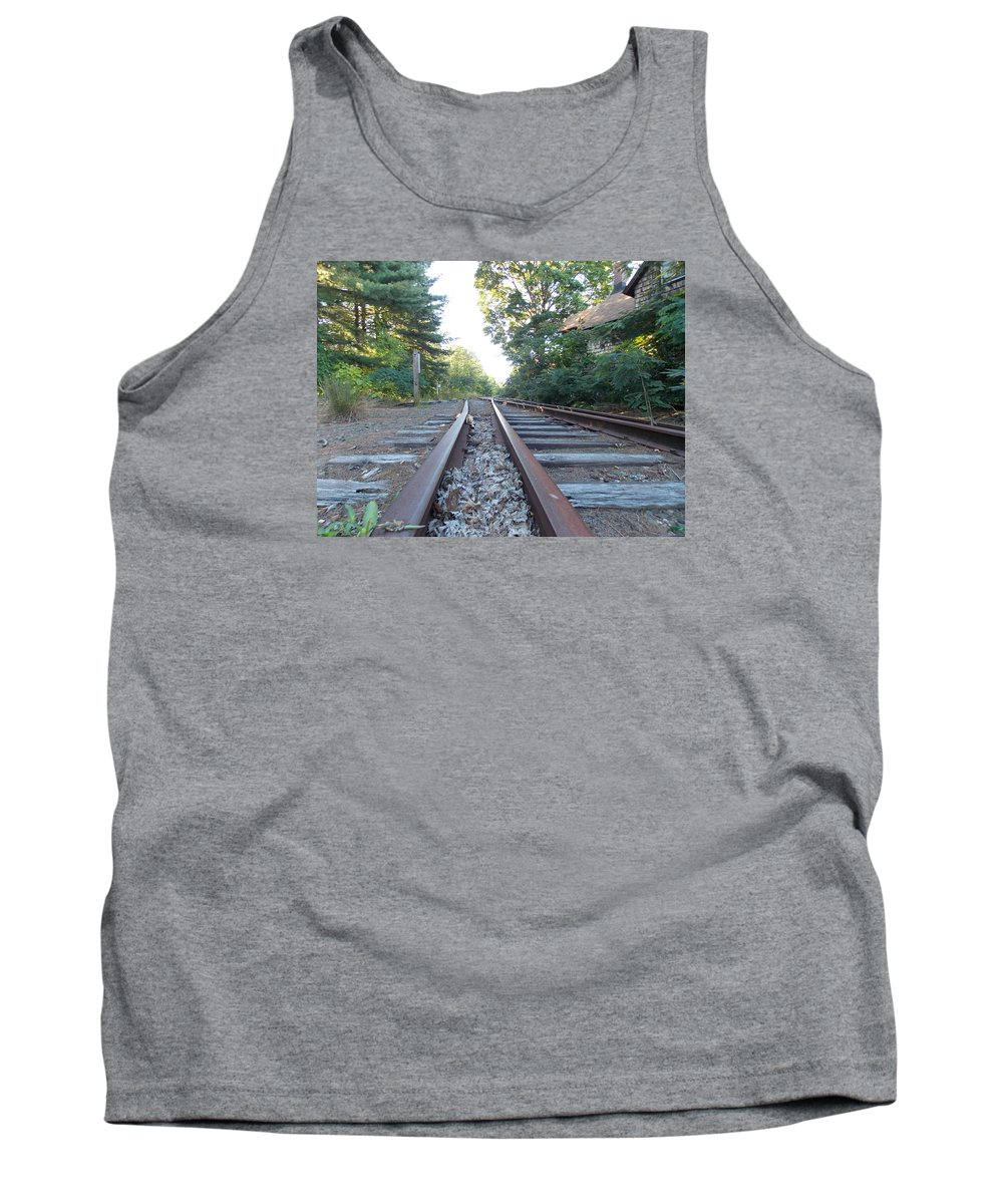 Abandoned Tank Top featuring the photograph Abandoned Railroad 1 by Nina Kindred