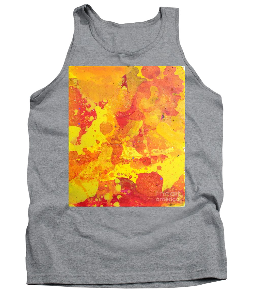 Brandon Tank Top featuring the painting Abstract 36 by Brandon Lynch