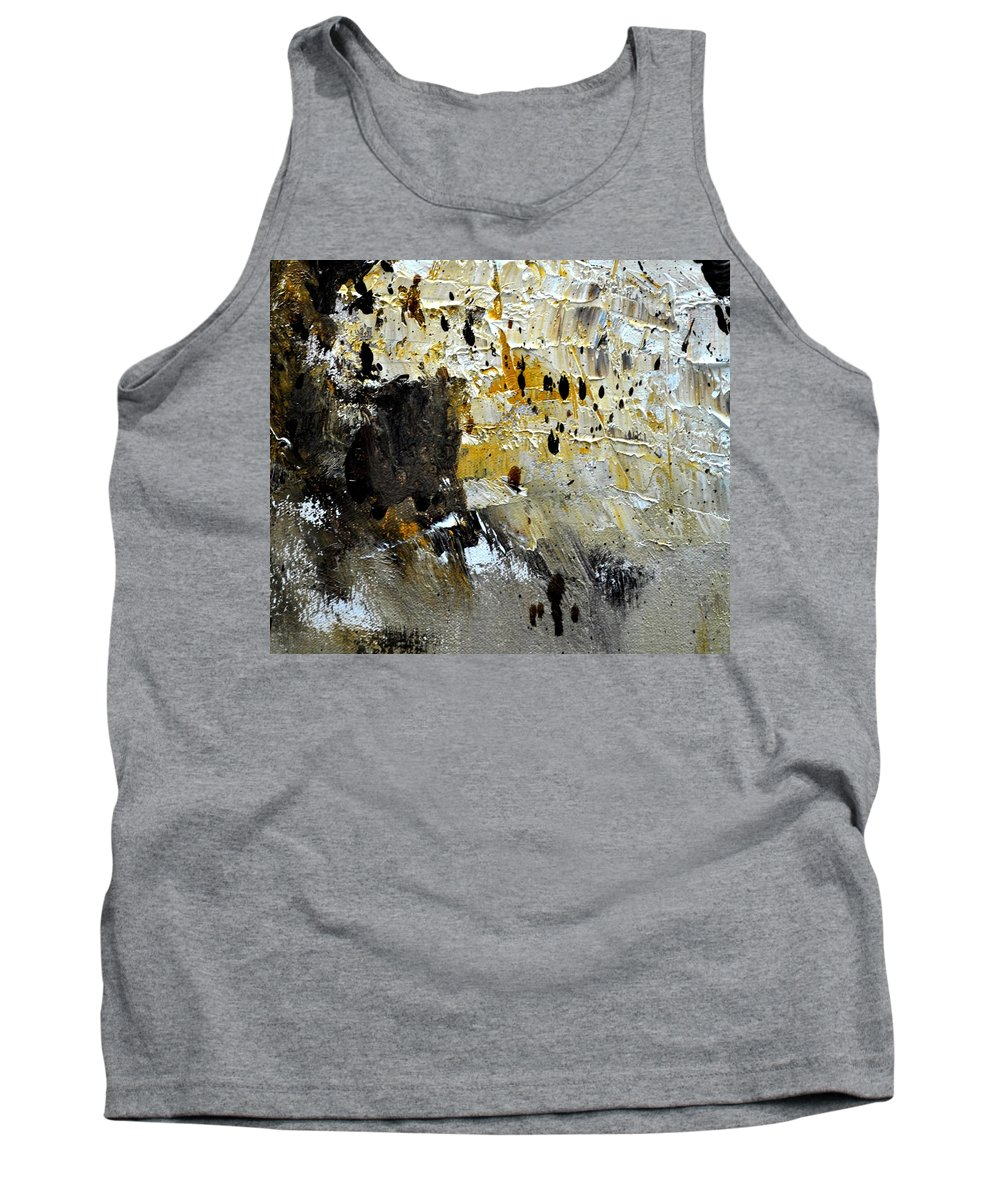 Abstract Tank Top featuring the painting Abstract 411111 by Pol Ledent