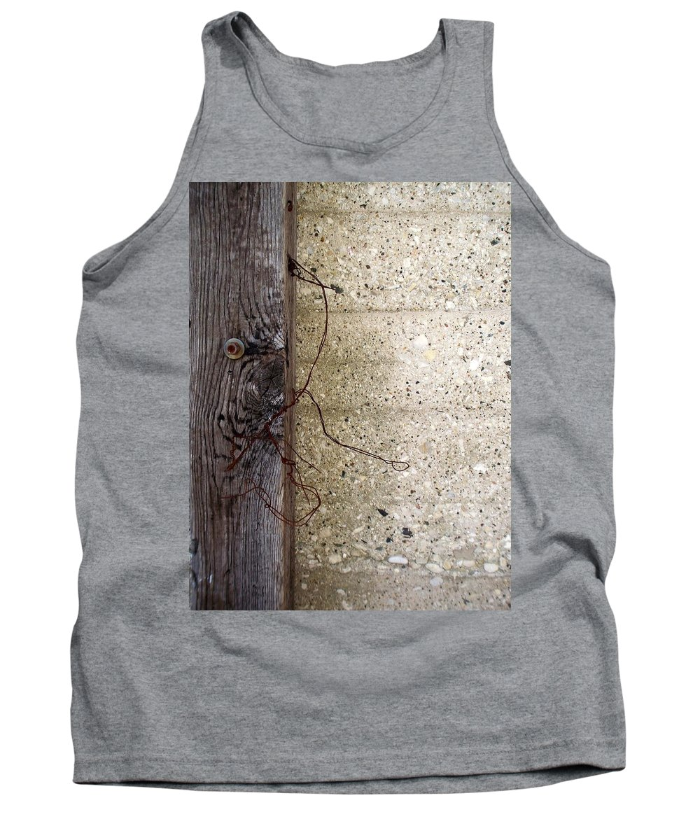 Industrial. Urban Tank Top featuring the photograph Abstract Concrete 11 by Anita Burgermeister