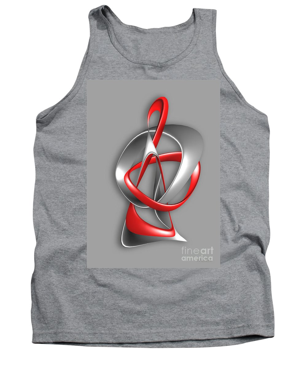 Abstract Tank Top featuring the digital art Abstraction 458-09-13 Marucii by Marek Lutek