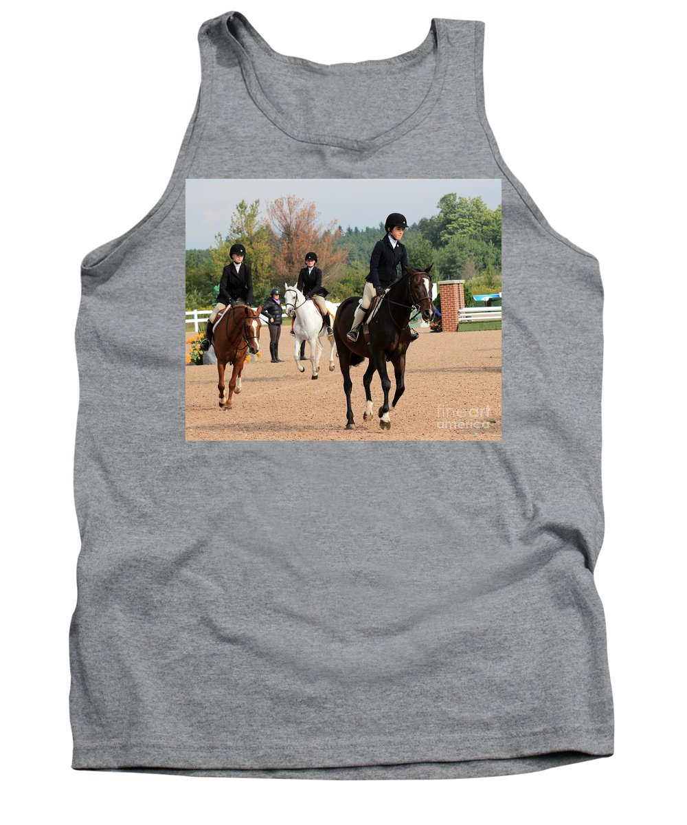 Horse Tank Top featuring the photograph Ac-hunter13 by Janice Byer