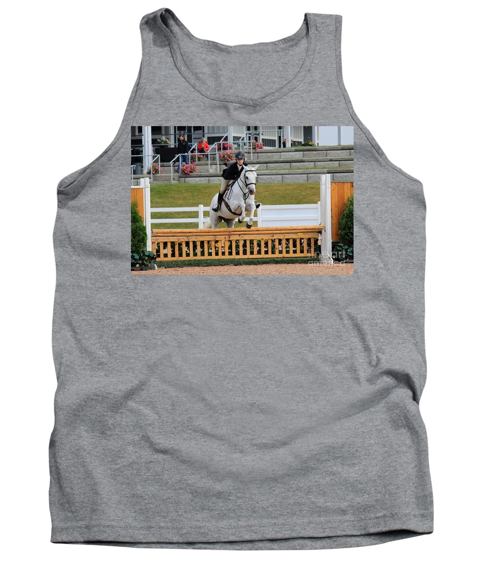 Horse Tank Top featuring the photograph Ac-hunter2 by Janice Byer