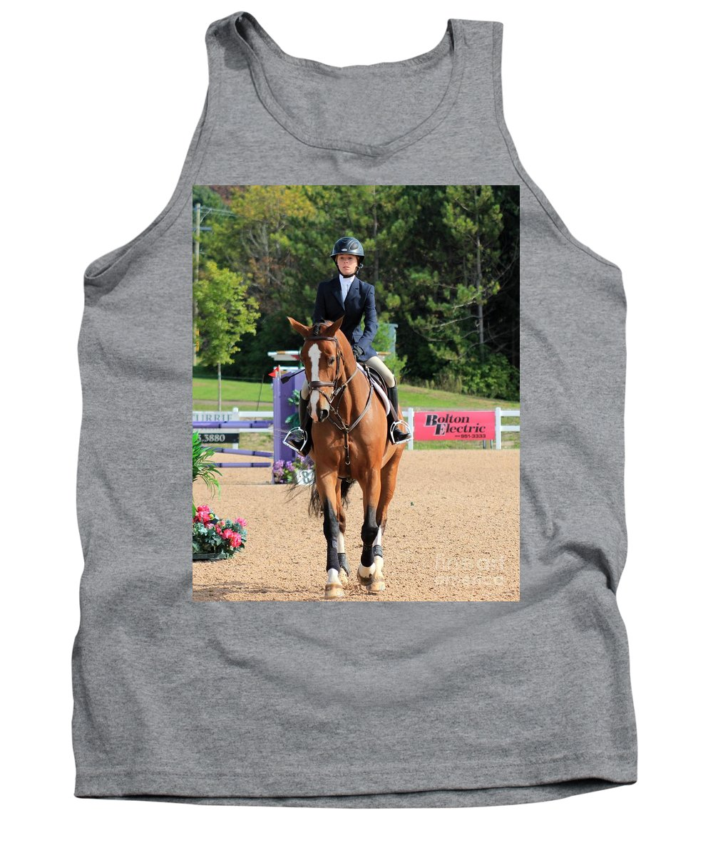 Horse Tank Top featuring the photograph Ac-medal20 by Janice Byer