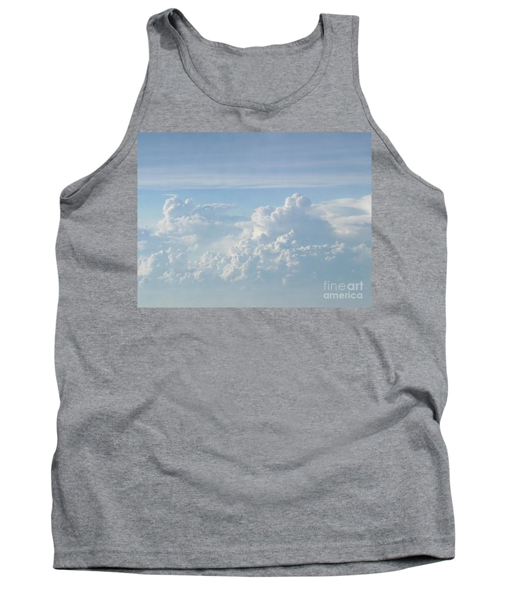 Skyscape Clouds Photographs Canvas Prints Blue Sky Aerial Formation High Elevation Turbulance Altitude Skyscape Prints Cloudscape Posters Blue Skies Tank Top featuring the photograph Aerial Formation by Joshua Bales