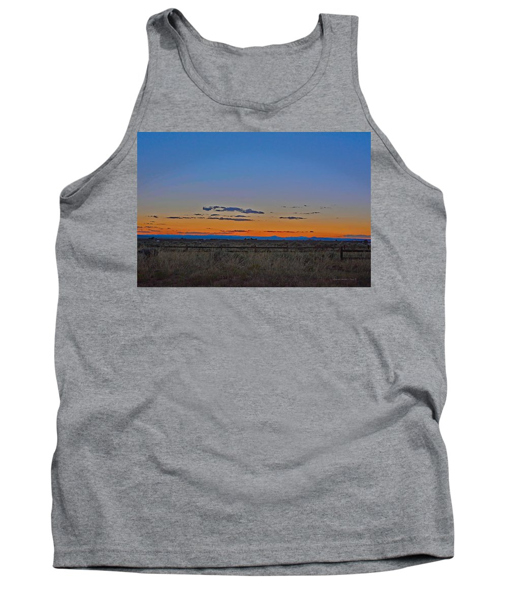 Afterglow Tank Top featuring the photograph Afterglow by Charles Muhle