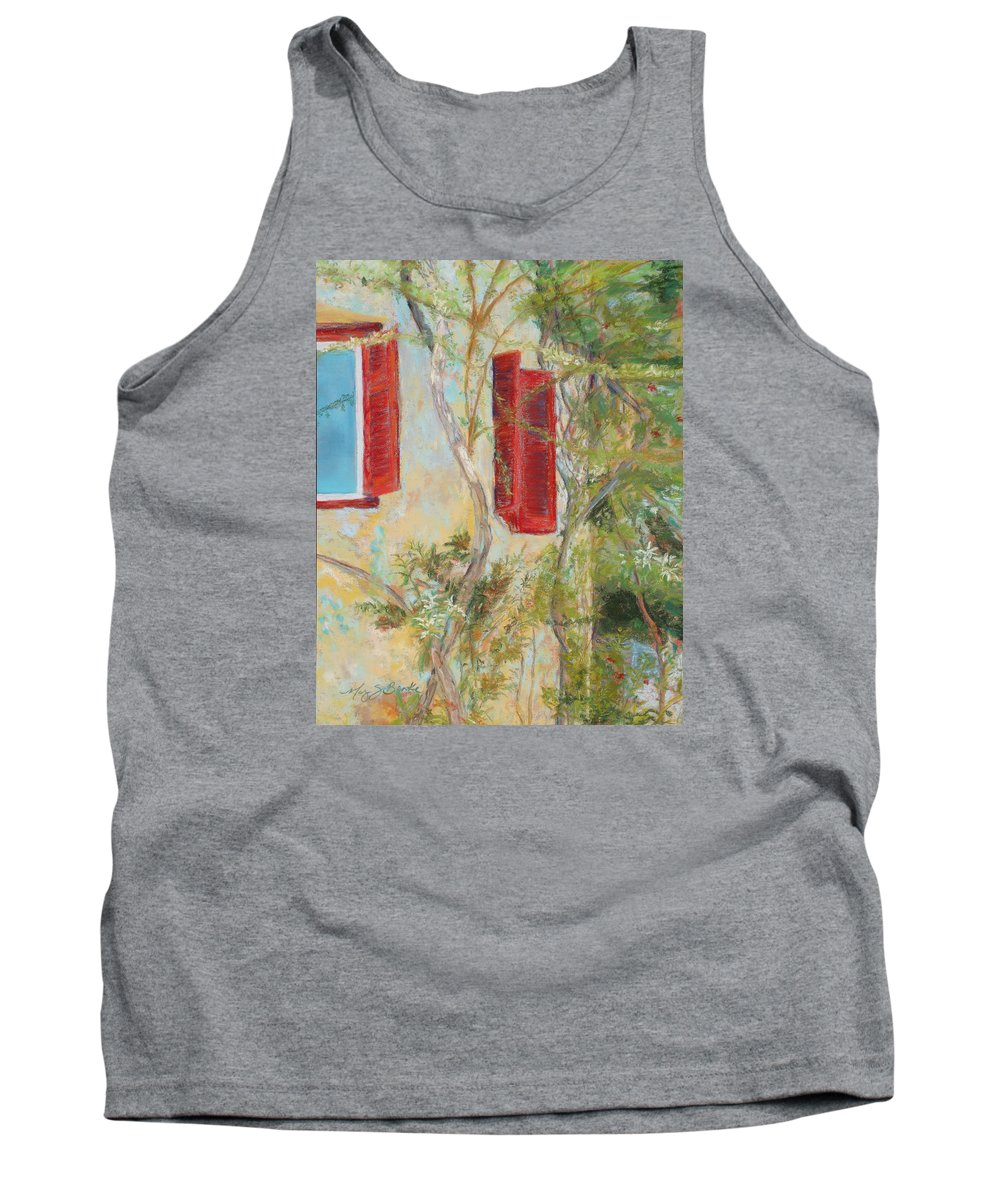 Europe Tank Top featuring the painting Afternoon In Athens by Mary Benke