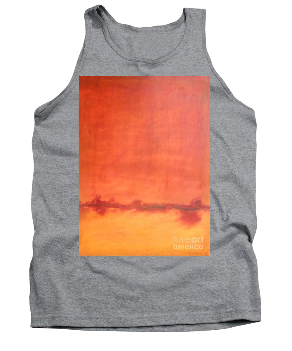 Orange Tank Top featuring the painting Afternoon Sun by Kitty Mecham